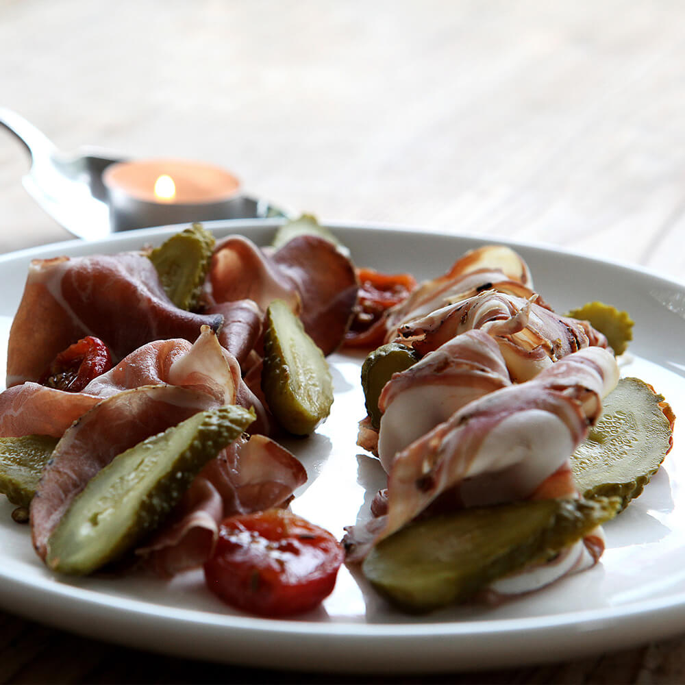 Cured Meats, Gherkins, Confit Tomatoes